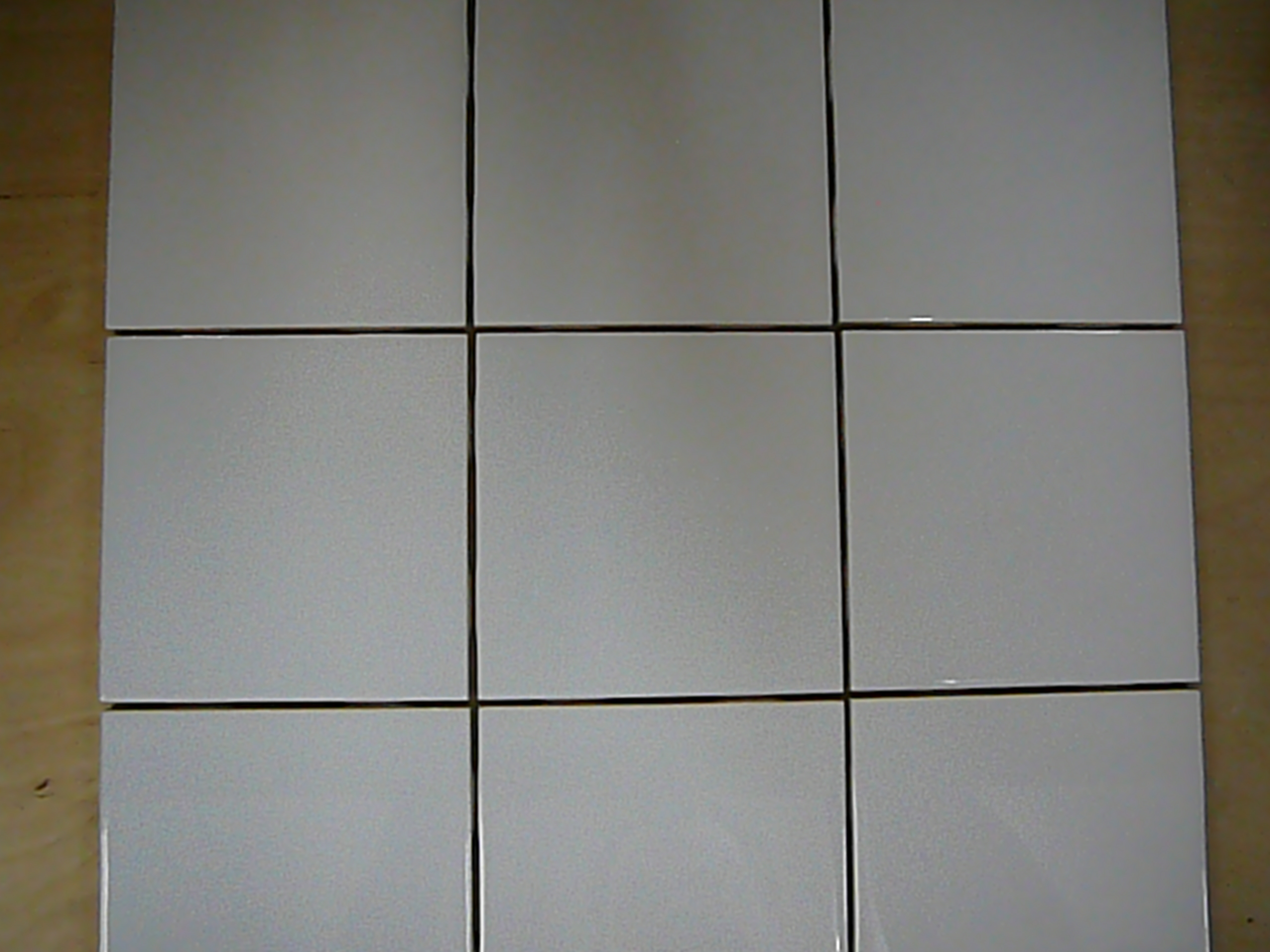 4 X White Glossy Wall Tile